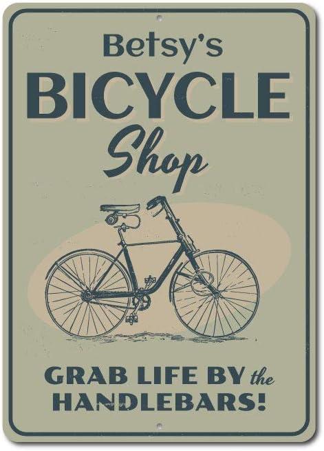 Cartel de ciclismo, bicicleta tienda signo decoración de la pared ...