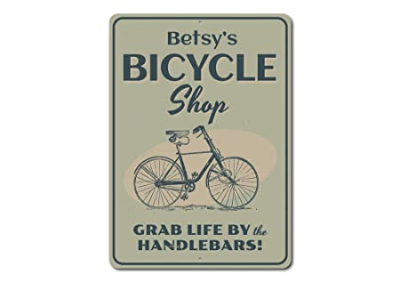 Cartel de ciclismo, bicicleta tienda signo decoración de la ...