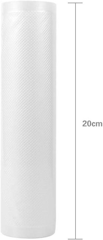 12cmx500cm Rotoli Sottovuoto per Alimenti Sottovuoto Verdura Ottima Compatibilit/à con Macchine Sottovuoto Congelatore per Alimenti E Freezer Freezer per Alimenti 4 Formati per Carne