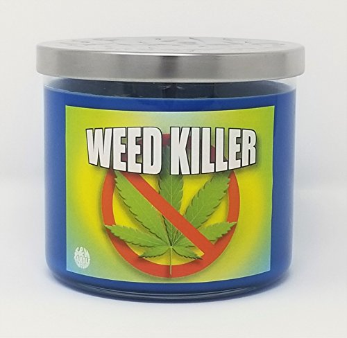 S&M Candle Factory Weed Killer 3 Wick Natural Scented Premium Soy Wax 14.5 oz Candle ~ 80 Hour Burn Time ~ (Weed Candle Wax)