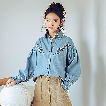 XXIN El Cowboy/Chica/Camisa/Jeans Camiseta Camisa Femenina/S/Azul Oscuro: Amazon.es: Deportes y aire libre