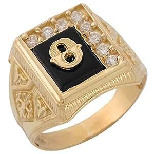 Jewelry Liquidation 10k Yellow Gold Black Onyx White CZ