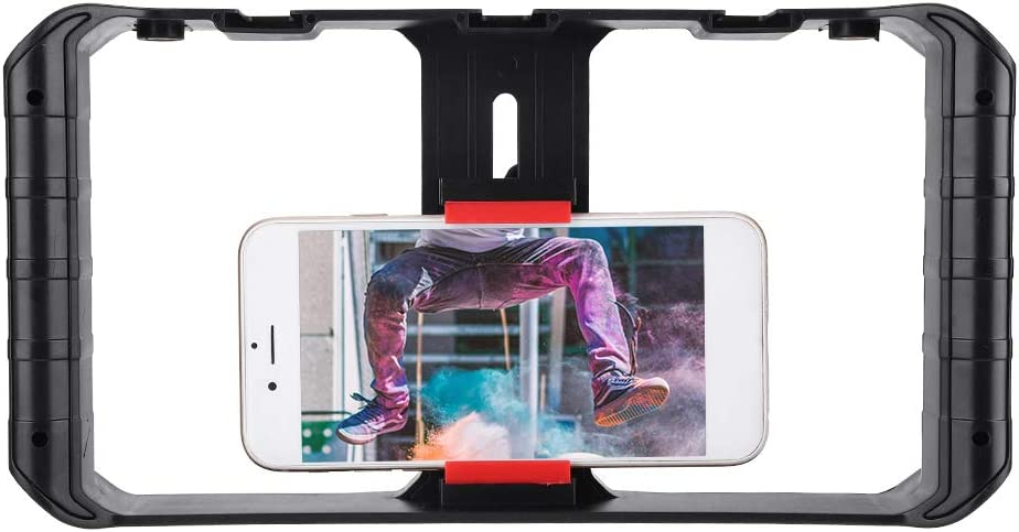 Mobile Camera Stabilizer Hakeeta Mobile Phone Stabilizer Support for External Microphones and LED Camera Lights Widely Used for Mobile Phone Color Shooting Outdoor Live Broadcast.
