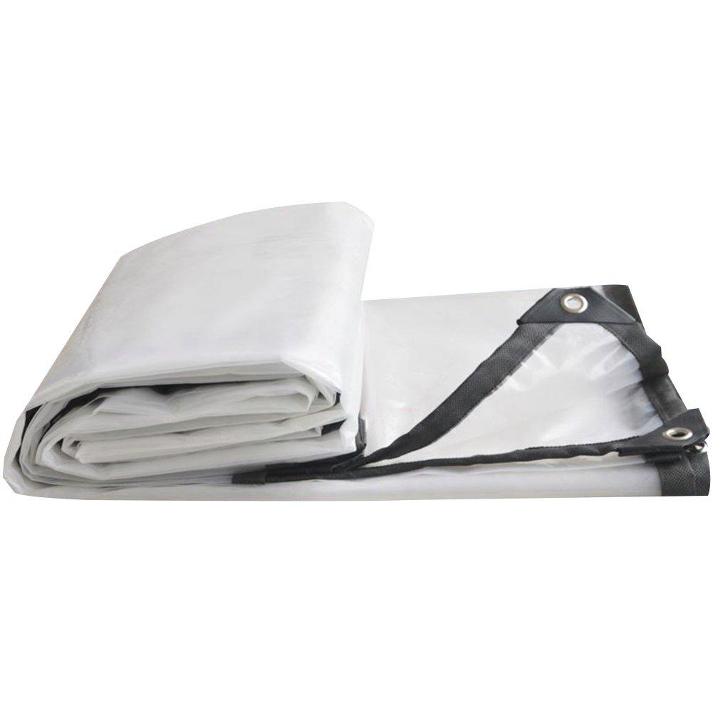 3x6M LQQFF Transparent tarpaulin Thick tarpaulin waterproof, white transparent plastic film, greenhouse insulated tarpaulin Dust and rain cover (Size   3x6M)