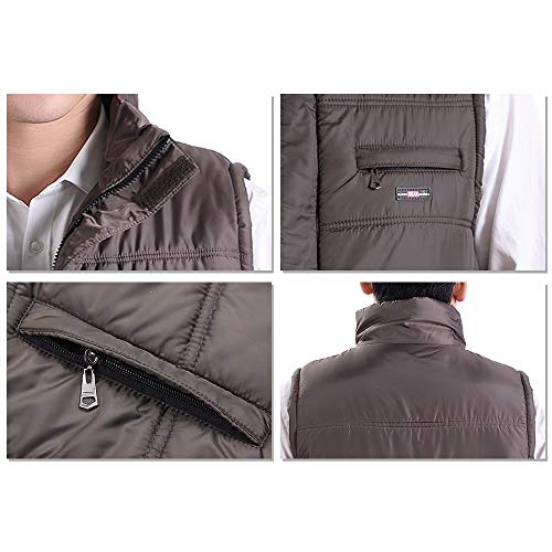 Down Jacket Winter 03 Waterproof Men Style Outwear Durable YIHIGH Men's Outdoor Waistcoats Down Warm Thicken for Vest 5CgFq