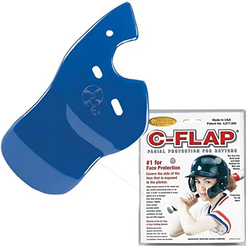 Authentic Baseball Shop Royal Left C-Flap Batters Helmet Face Protector Attachment Helmet Sold Separately Right Handed Hitter