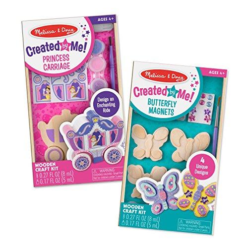 Melissa & Doug Dyo Bundle-Princess Carriage & Butterfly Magnets Craft Kits