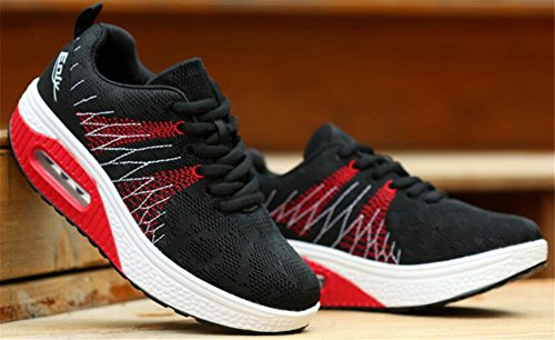 Adult Womens Shape Ups Mesh Walking Fitness Shoes Fashion Sneakers Black RIXmD
