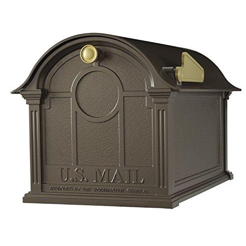 Standard Whitehall Mailbox Post - Whitehall Products Balmoral Mailbox, Bronze