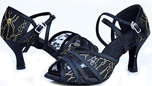 Body Noir Femmes Professionnel 004 Peep shoes Strap Dance toe De Corps Chaussure Pour Latin nXROX7