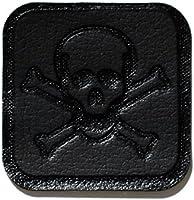 MastaPlasta Reparación Cuero, Polipiel y Skai - Parches Adhesivos Pirata Pequeño (50x50mm) (Negro)