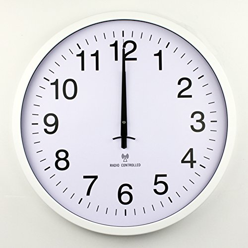 YYL Simple Radio Controlled Clock,Silent Watches Of Modern Fashion,Living Room Bedroom Office Creative Clock-B 20inch