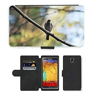 PU LEATHER case coque housse smartphone Flip bag Cover protection // M00110733 Pájaro Halcón Posición elevada Rama de // Samsung Galaxy Note 3 III N9000 N9002 N9005