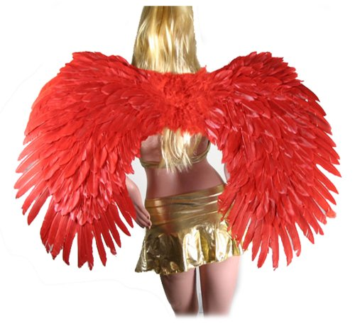 SACASUSA Super Large Red Feather Angel wings men, women adults for $<!--$39.98-->