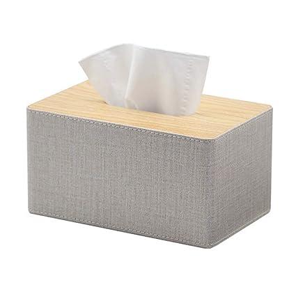 Tissue Storage Box Caja de pañuelos Bandeja de servilletas doméstica Mesa de café Caja de pañuelos