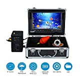 "Uphig 9"" Monitor 1000TVL Fish Finder Underwater Waterproof Fishing Video Camera 30m Cable with LED Adjustable"