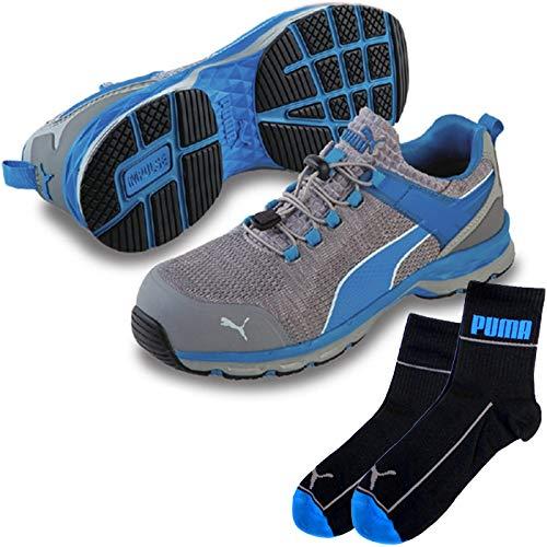 PUMA(プーマ) 安全靴 作業靴 エキサイト 28.0cm ブルー PUMA ソックス 靴下付セット 64.227.0  B07QM4DLP9