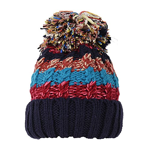 DDSOL Womens Pom Beanie Hat Slouchy Fleece Ski Hat Winter Chunky Bobble Hats -