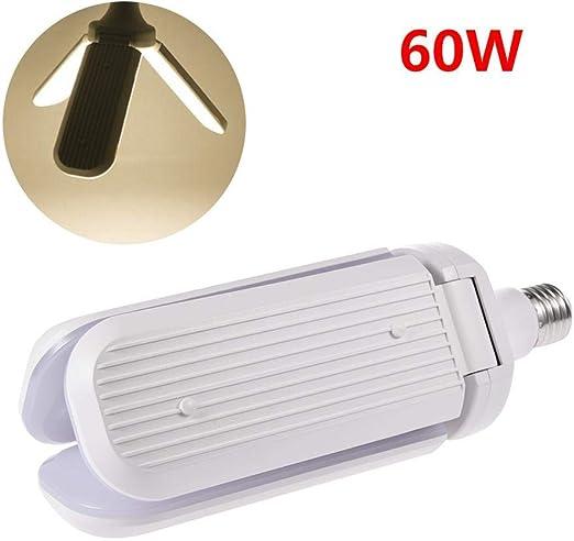 Luces De Garaje Led Bulbo, 60w E27 / E26 Bombilla LED Ventilador ...