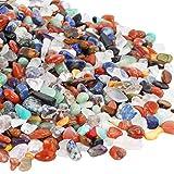 TUMBEELLUA 1LB Chips Tumbled Stones Crushed Reiki Irregular Shaped Healing Crystal Quartz Decoration,Chakra Stone