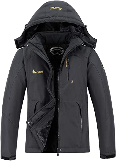 MOERDENG Men's Waterproof Ski Jacket