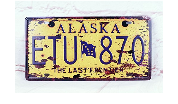 Amazon Com Etu 870 Car Plate Auto Vintage License Plate Tag Antique Home Pub Bar Decor Tin Signs Wall Plaque Home Kitchen