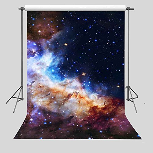 FUERMOR Starry Background 5x7ft Galaxy Stars Backdrop Photography Studio Photo Props GEFU464