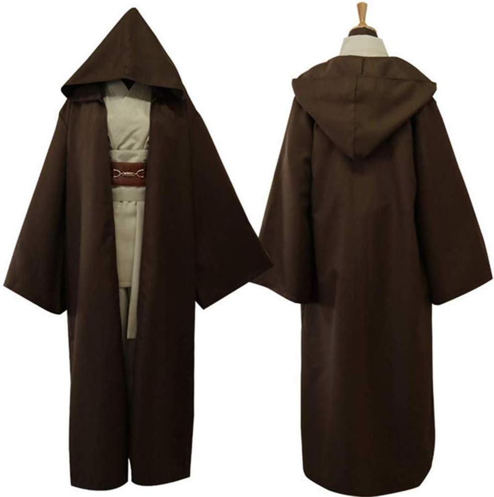 Lydia's Anime Cosplay Ropa Anakin Películas De Ciencia Ficción Star Wars Cosplay del Traje Samurai Juego Marrón Trajes De Skywalker Túnica Jedi Batalla Vestimenta Uniforme M