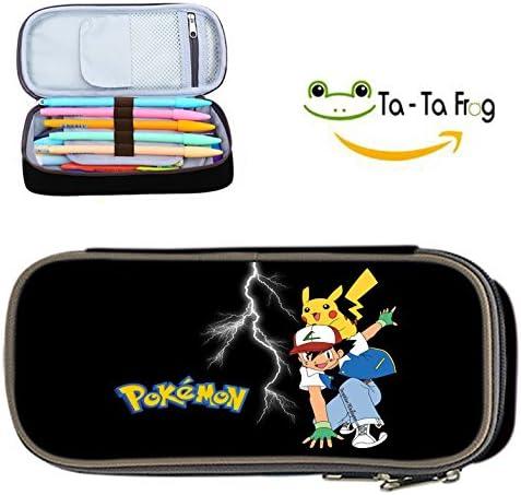 Pokemon estuche Super gran capacidad caja de lápiz lápiz caso cosmético Bolsas de viaje bolsa de maquillaje: Amazon.es: Oficina y papelería