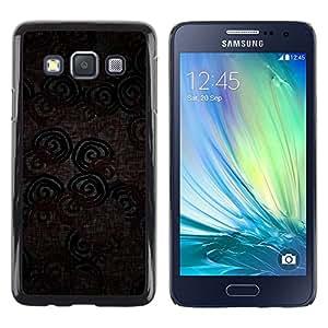 Be Good Phone Accessory // Dura Cáscara cubierta Protectora Caso Carcasa Funda de Protección para Samsung Galaxy A3 SM-A300 // Wallpaper Textile Design Pattern Circle Lines
