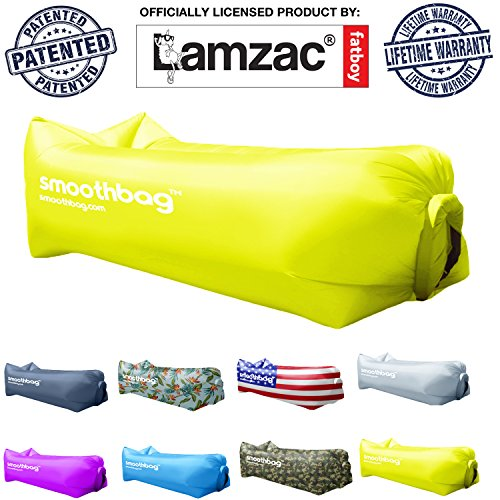 Inflatable Lounger and Indoor Outdoor Sofa: Lazybag Air Lounge Chair with Built-In Headrest | Banana Sleeping Bag, Hammock, Pool Float, Portable Camp Seat, Lazy Hangout Couch Bed