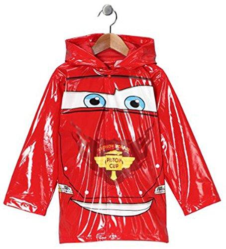 Disney Cars Boy's Red Rain Coat (2T)