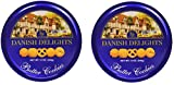 Sherwood DANISH DELIGHTS Butter Cookies, (340g). In a Nice Attractive Gourmet Gifting Tin, Box Pack Of 2
