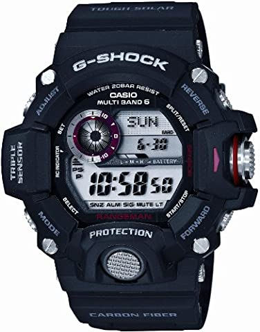 Casio Men's GW-9400J-1JF G-Shock Digital G Rangeman Series Multiband 6, Black Watch (Gshock Watches Master Of G)