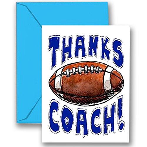 "FOOTBALL 3-PACK ""Thanks Awesome FOOTBALL Coach!"" SPORTS POWERCARD Greeting Cards (5x7) Perfect for youth sports to express ""Thank You!"" - COACH will love it! #AllProfitsToHelpKids"