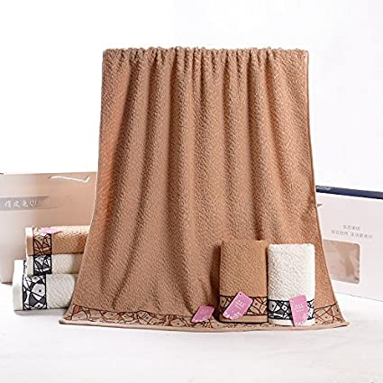 XXIN Caja De Regalo Toalla Toalla Lavar Toalla Toalla De Baño Toalla Marrón Impresos para Eventos