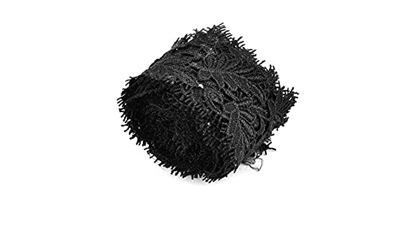 Amazon.com: eDealMax poliéster hogar arte de DIY parche de Coser bordes de Encaje apliques 2.2 yardas Negro