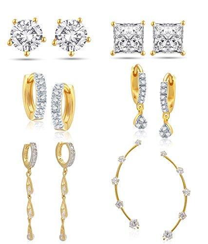 Jewels Gehna Gold Plated Jhumki Earrings for Women  Multicolor   Ear181c