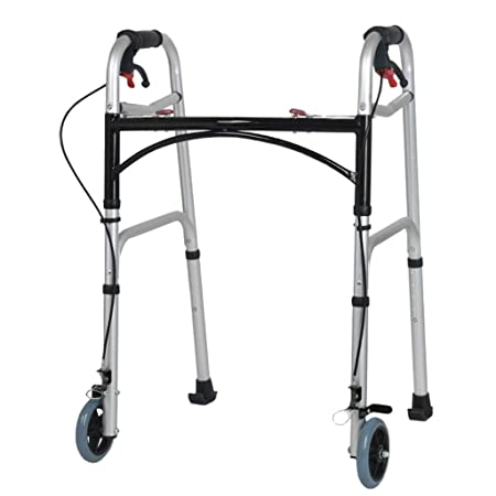 YOUXD Andador De Aluminio Ligero Plegable Caminador De 2 ...