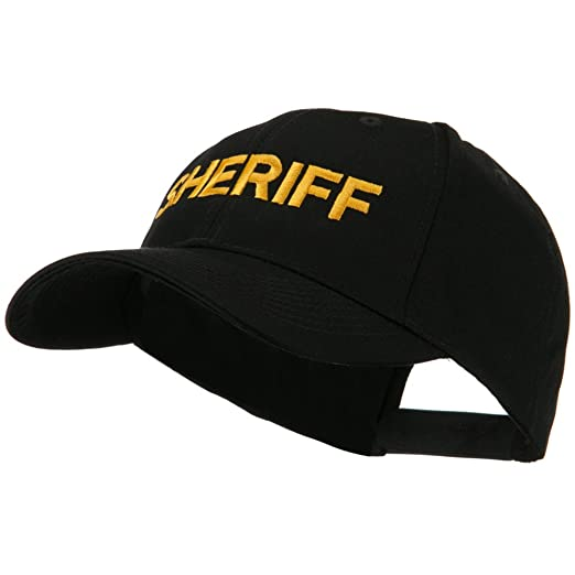 af5549d512e Embroidered Military Cap - Sheriff OSFM at Amazon Men s Clothing ...