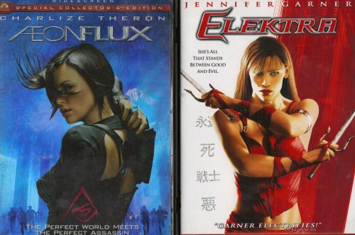 Aeon Flux , Elektra : Female Action 2 Pack Collection