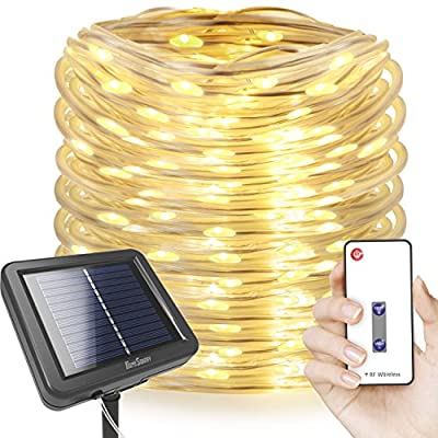 Homestarry Dimmable Solar Rope Lights (100 ft)