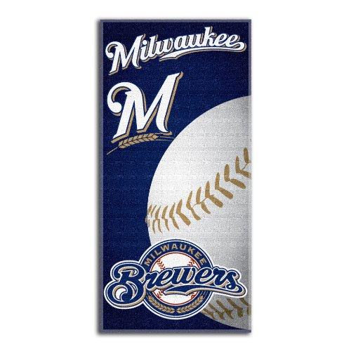 The Northwest Company MLB Milwaukee Brewers Emblem Beach Towel (Pool Milwaukee Brewers)