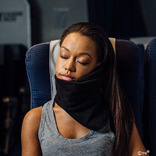 Trtl FBA_BG1-NS-1-2015 Scientifically Proven Super Soft Neck Support Travel Pillow-Machine Washable Black