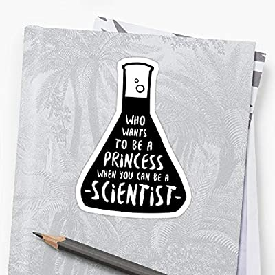 MrMint Who Wants to be a Princess When You can be a Scientist Stickers (3 Pcs/Pack) 2592271539098: Kitchen & Dining