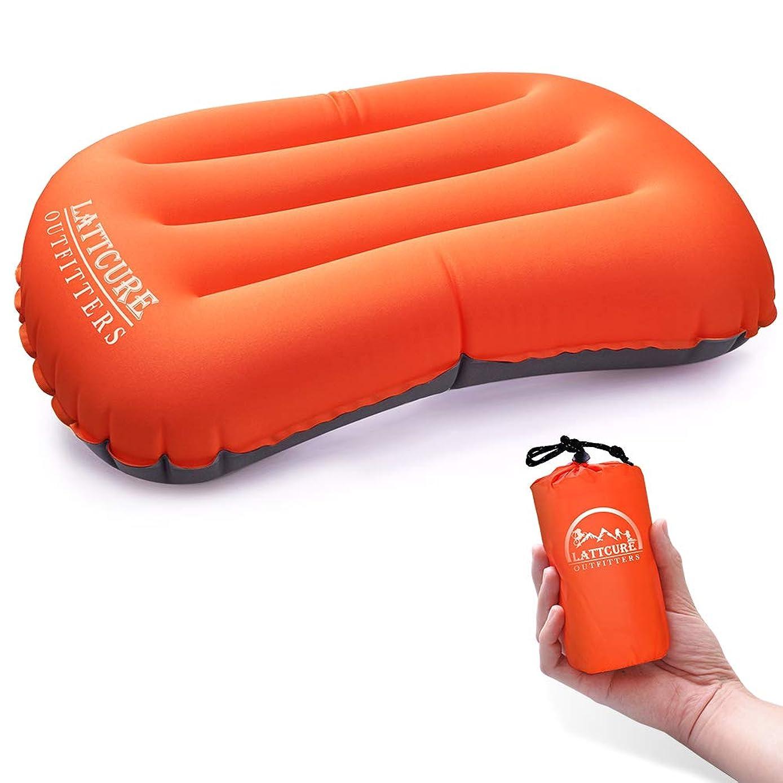 手がかり花火欠かせない自動膨張式 エアーピロー 旅行用枕 トラベル枕 枕カバー付 収納袋付 キャンプ アウトドア