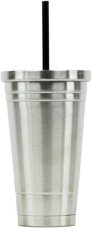 Hot or Cold - Stainless Steel Drink Tumbler - Double Wall Vacuum Insulated -16oz. Capacity - Stainless