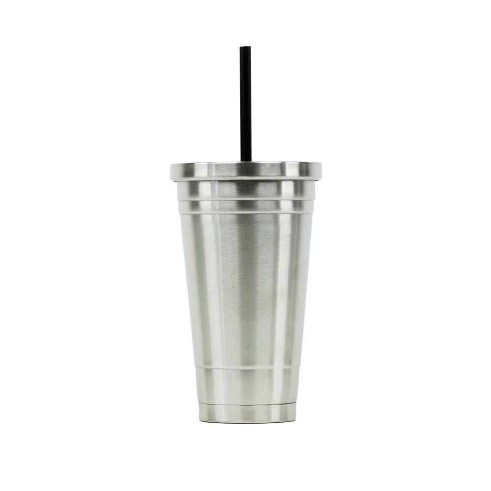 Hot or Cold - Stainless Steel Drink Tumbler - Double Wall Vacuum Insulated -18oz. Capacity - Stainless