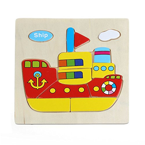 Ship Puzzles Toys ,BeautyVan Wooden Ship Training Puzzle Toy