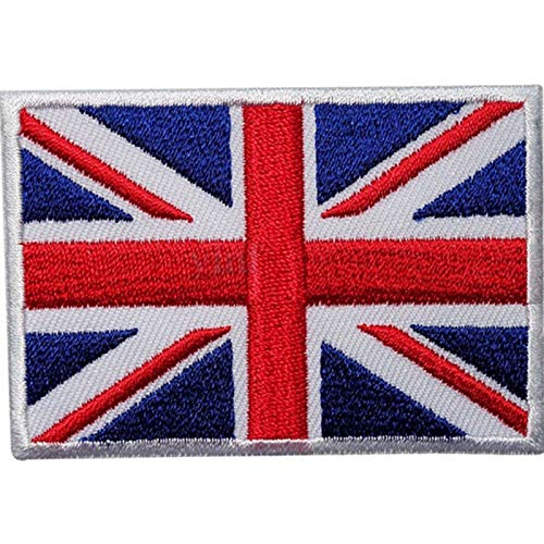 Applique Iron - 1 Pcs Uk Flag Embroidered Applique Iron Sew On Union Jack Patch United Kingdom Badge Transfer Diy -Applique Tool Iron Fabric Backing Sheet Patch Flag Embroidered Ironing E -